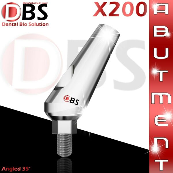 X200 Dental Angled Abutment 35° + Screw With Hex For Dental Implant LabDentist