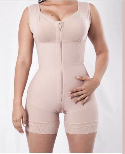 MID-THIGH GIRDLE WITH  BRA  AND BACK COVERED STYLE F0029 FAJA COLOMBIANA
