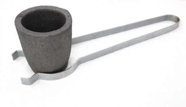 Clay Graphite Crucible Cup For Furnace -Torch Melting With Flask Tongs