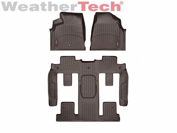 WeatherTech Car FloorLiner for Traverse / Acadia / Enclave 1st/2nd/3rd Row Cocoa