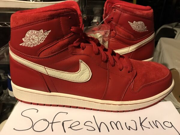 Nike Air Jordan Retro 1 High OG Gym Red Size 13 Euro Exclusive 555088-601