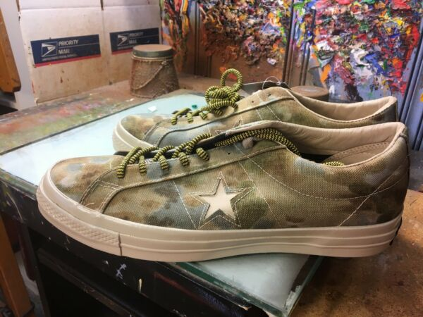 Converse One Star OX '74  Brookwood White Pepper Camo  Size US 10.5 Men 152666C