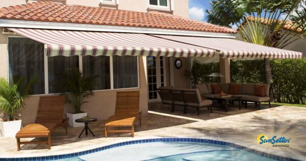 SunSetter Awning Motorized Retractable Awning 20'x10' Outdoor DeckPatio Awning