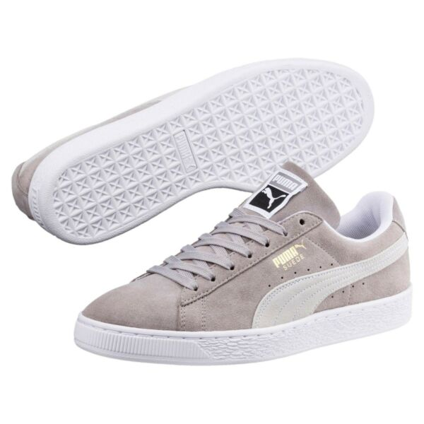 [365347-01] New Men's PUMA Suede Classic Sneaker - Grey White MSRP $65