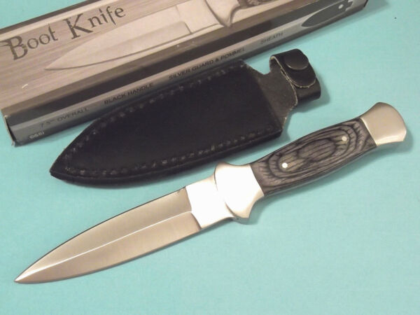 Boot Knife 203403 Black wood dagger full tang knife 7 1 2quot; overall PA3403 NEW