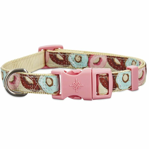 Good2Go Donut Print Dog Collar Size Small Medium Large Built in slide for fast $10.99