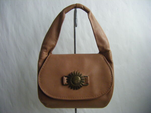 Rare LLOYD KIVA NEW CHARLES LOLOMA Vtg 50s Brown Leather Cast Small Purse Bag