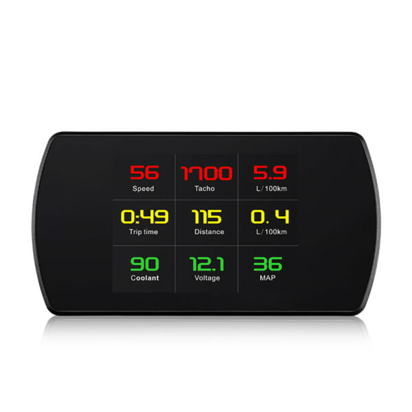 Multi-function LCD Smart Display Car Computer OBD Hud Real Time Monitor Alarm