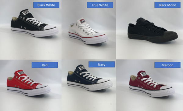 Original Converse All Star Chuck Taylor Canvas Shoes Low Top Bran