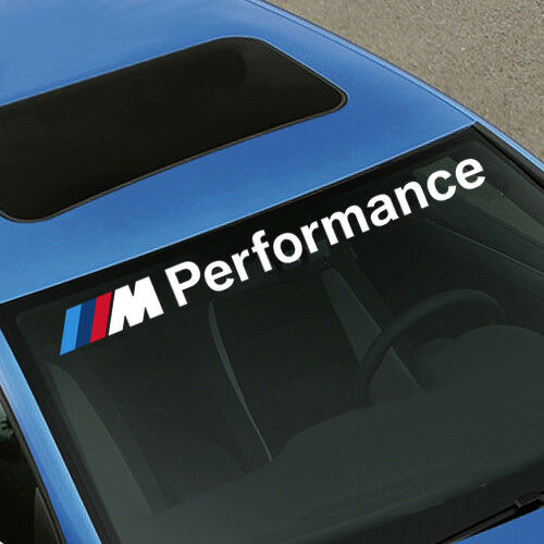 M Performance BMW Decal Windshield Window Vinyl Front or Rear Windshields
