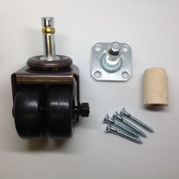 Grand Baby Grand Double Dual Rubber Wheel Piano Caster Kit Square Socket $18.95