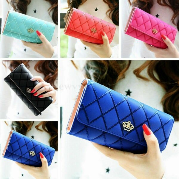 Women Leather Wallet PU Lady Purse Card Holder Clutch Long Handbag Bag US STOCK $6.89