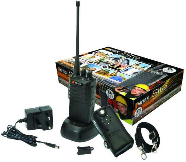 MITEX SITE UHF RADIO Colour Black Frequency 403MHz Kit Contents Descriptive