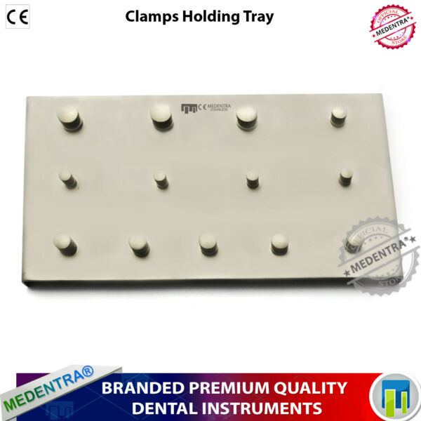 MEDENTRA® Rubber Dam Clamps Holding TrayPlate for 13 Clamps Upper Lower Molars