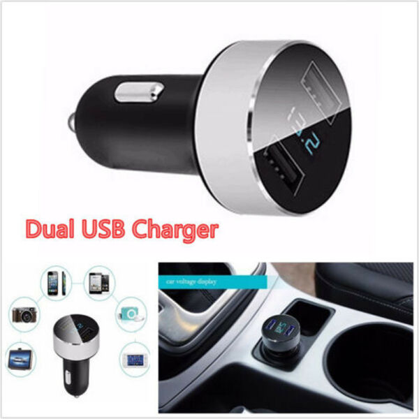 Car Charger 5V/3.1A Quick Charge Dual USB Port Cigarette Lighter Adapter Access
