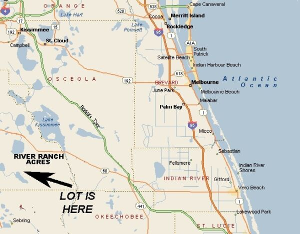 River Ranch Acres, Florida Vacant Recreational Parcel FLORIDA ONLY BIDS!!!