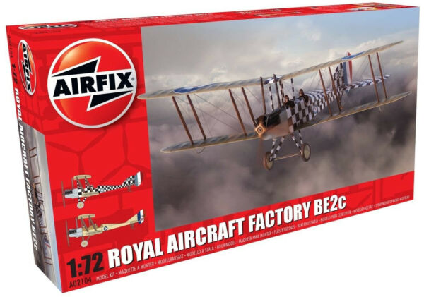 Airfix Royal Aircraft Factory BE2c 1:72 Scale Plastic Model Airplane A02104