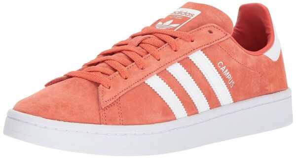 adidas Men's Shoes Originals Campus Red White Premium Nubuck Leather DB0984