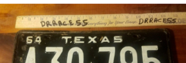 1964 64 Texas License Plate Vintage Antique Classic chevy ford Decor