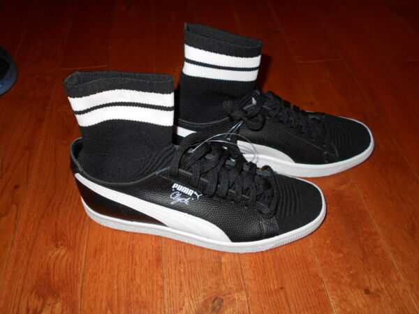 Puma Clyde Sock NYC Walt Frazier SZ 8 Basketball Black White New Shoes Sneakers