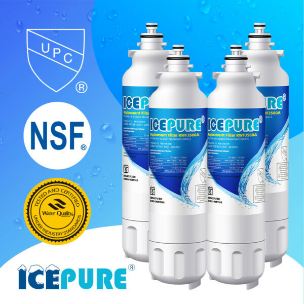 Compatible With LG LT800P ADQ73613401 Icepure Water Filter 4 PACK