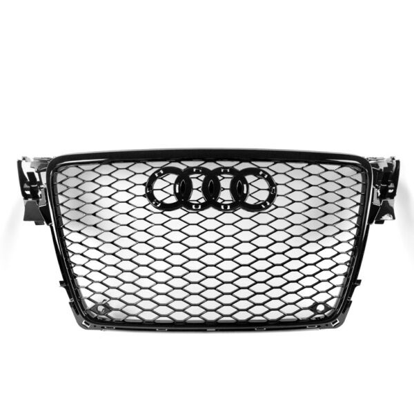 HONEYCOMB SPORT MESH RS4 STYLE HEX GRILLE GRILL BLACK FOR 09-12 AUDI A4S4 B8 8T