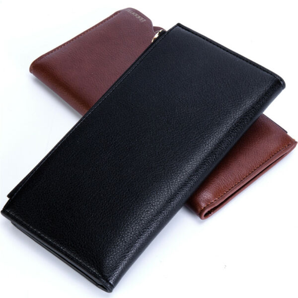 Fashion Business Men's Long Wallet Card Package Anti-radio Frequency RFID New