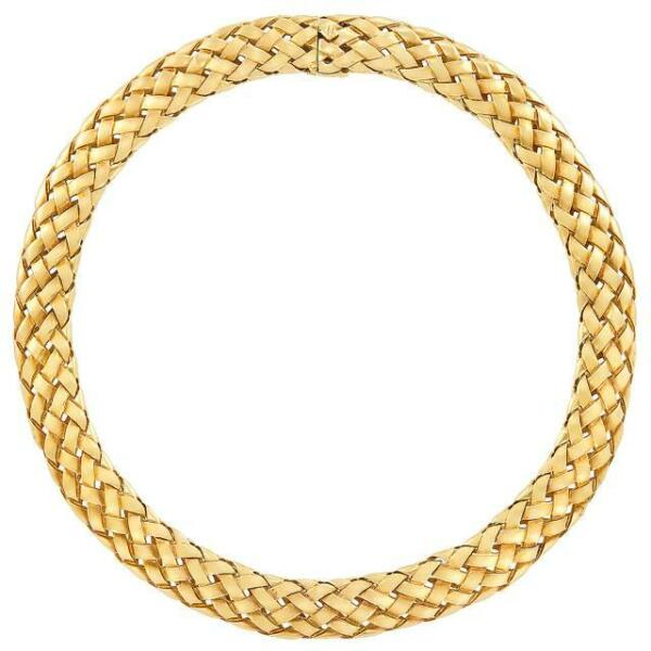 Authentic Rare Vintage Van Cleef & Arpels 18k Yellow Gold Choker Necklace 118.3G