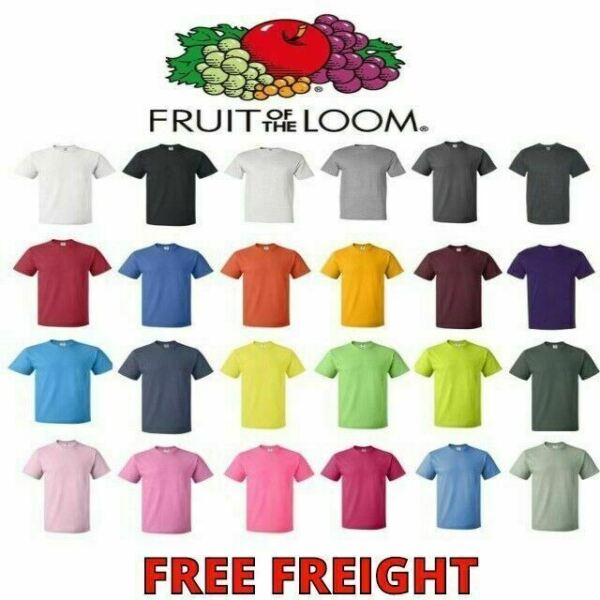 Fruit of the Loom Mens T-Shirts HD 100% Cotton Short Sleeve Tee S-6XL 3930 $5.99