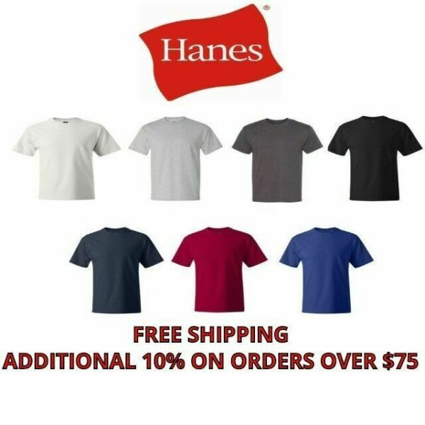 Hanes Beefy-T TALL T-Shirt 100% Cotton Tagless 518T Mens LT XLT 2XLT 3XLT 4XLT