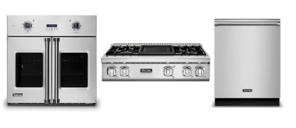 Viking Pro Kitchen Package - 36in Rangetop 30in Oven & FREE Dishwasher