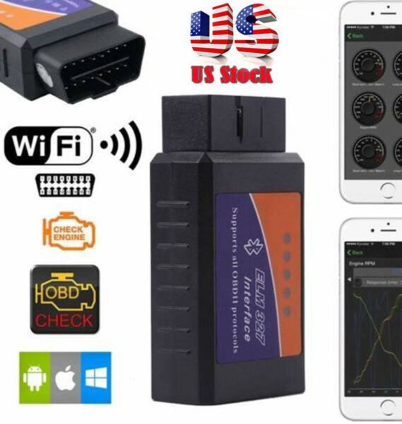 ELM327 WiFi OBD2 Car Diagnostics Scanner Scan Tool for Smart Phone Android