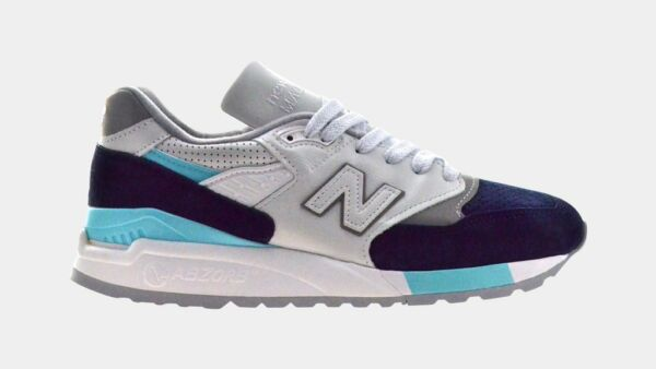 New Balance Classics 998 Men's Shoes White Navy MADE IN USA M998WTP NEW