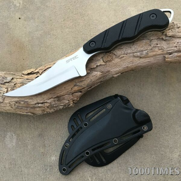 2 Colors 9quot; Outdoor Fixed Blade Knife Survival Hunting ABS Sheath w Belt Clip