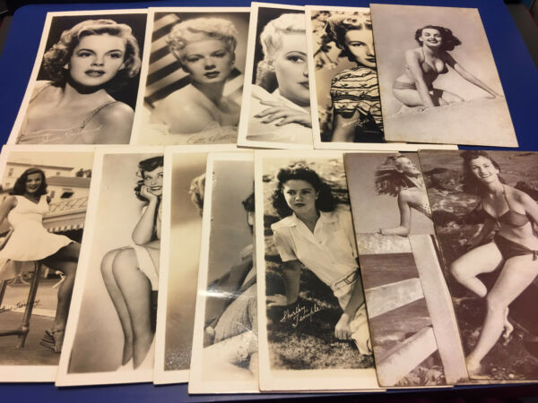 Vtg Arcade Exhibit Mutoscope Cards Shirley Temple Betty GrableJudy Garland LOT