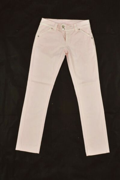 ICE JEANS ICEBERG Vintage Ltd PINK Made in Italy Trousers Pants W26 Uk8 Stretch GBP 19.00