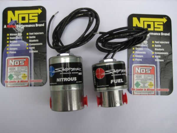 NOS/NX/ZEX/EDELBROCK/HOLLEY/ NOS SNIPER CHEATER NITROUS+FUEL SOLENOIDS 250HP NEW