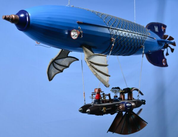 Steampunk Airship 50 inch long one of a kind handmade