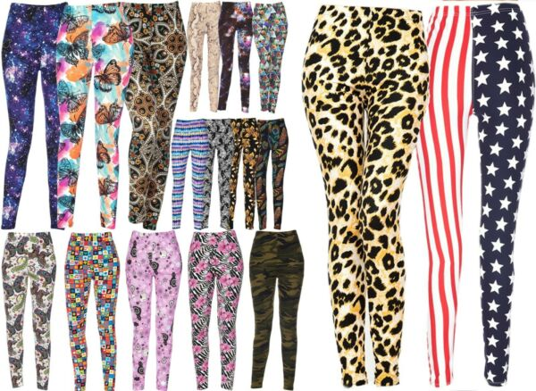 Women#x27;s Printed Brushed Buttery Soft Leggings Regular Plus Size