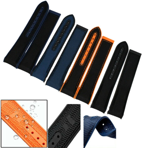 22mm CanvasRubber Diver Watch Strap Band for OMEGA Seamaster Planet Ocean