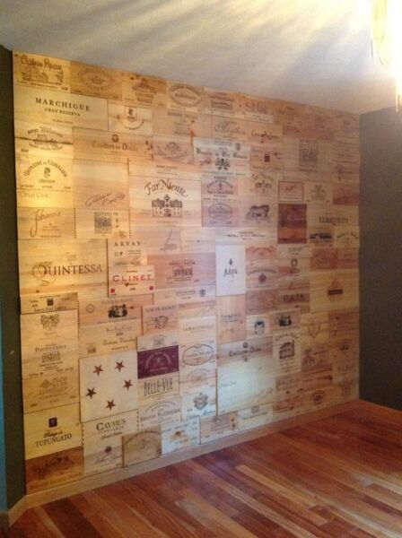 22 Assorted & Branded Wine Panels From Crates (Wine Box) SidesEndsTops Wood