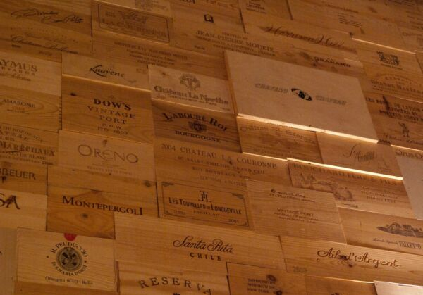 50 Assorted & Branded Wine Panels From Crates (Wine Box) SidesEndsTops Wood