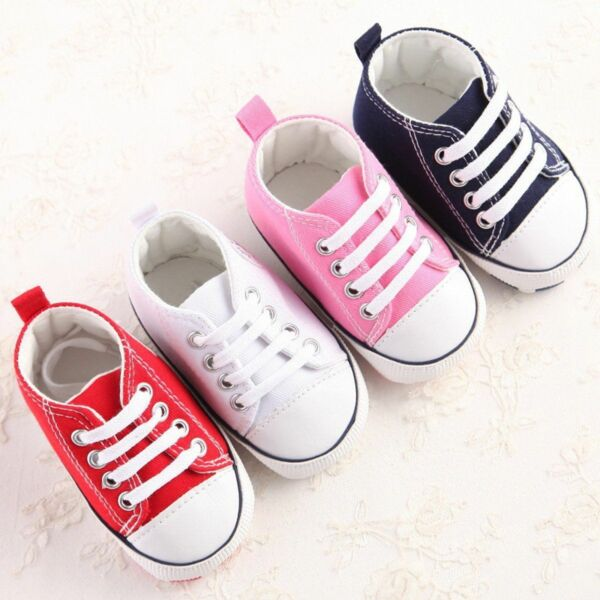 Converse New Born Crib Booties Boys Girls Whie Leather First Star Baby Shoes