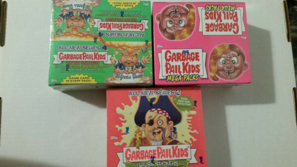 Garbage Pail Kids All New Series 2 4 and 7 sealed boxes