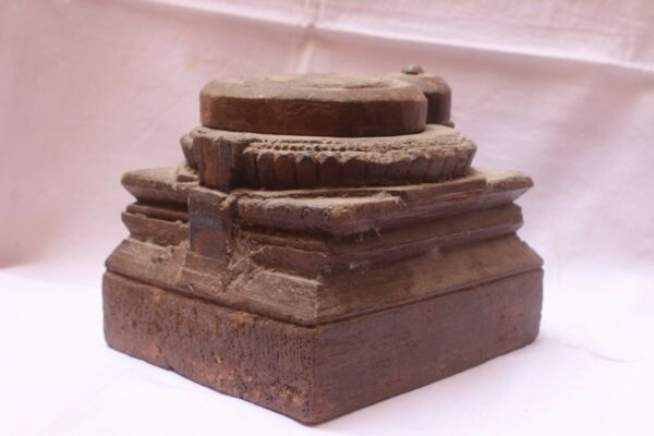 OLD VINTAGE WOODEN HAND CARVED BEAUTIFUL TRIBAL KITCHEN SPICE PANTRY BOX WO 03