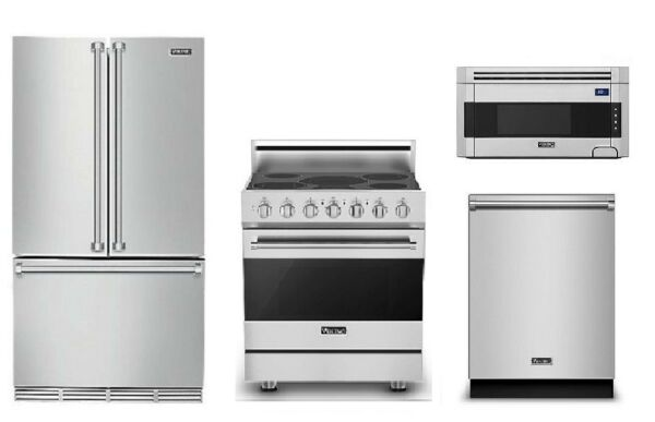 Viking Special Value Package: Refrigerator, Range, Microwave, & Dishwasher