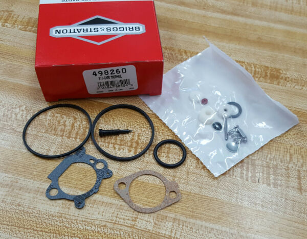 OEM BRIGGS AND STRATTON KIT CARB OVERHAUL 498260 $12.95