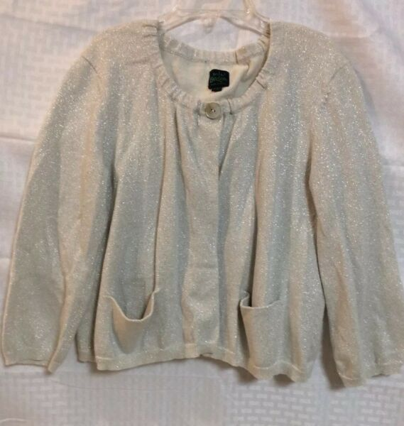 EUC Mini Boden Holiday Christmas Girls Cardigan Over Sweater Size 11-12y