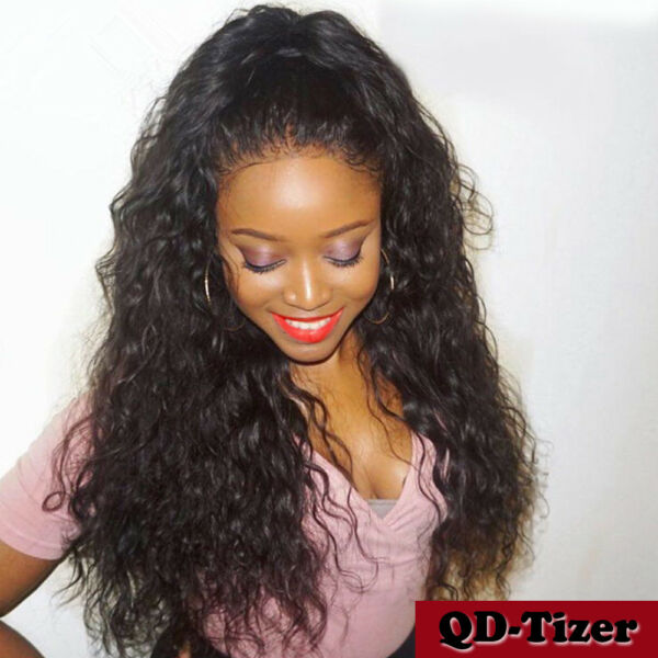 200% Heavy Density Long Loose Water Wave Synthetic Lace Front Wig Heat Resistant