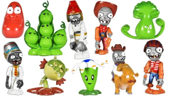 Plants vs Zombies PVC video game Toy Action Figures Set